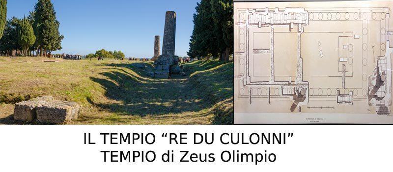 """""""I RU CULONNI"""", Tempio di Zeus Olimpio. La storia, le testimonianze storiche e lo stato attuale di abbandono."""