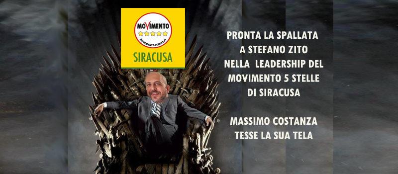 MOVIMENTO 5 STELLE SIRACUSA – Prove di spallata di Massimo Costanza alla Leadership di Zito