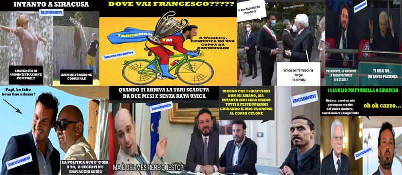 Le nostre ultime dieci vignette su Francesco Italia nelle vesti di Targaman e di un sindaco sempre più disorientato.